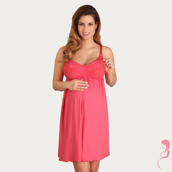 Lupoline Zwangerschapsjurk / Voedingsjurk Hot Red