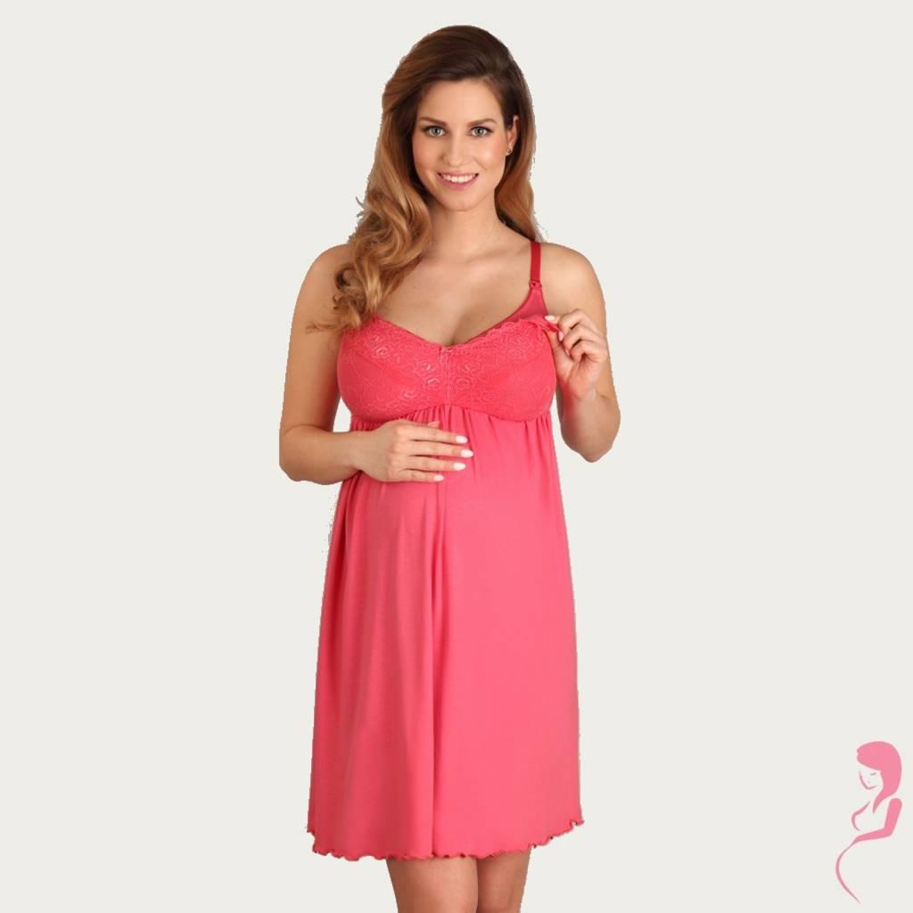 Lupoline Zwangerschapsjurk - Voedingsjurk Hot Red