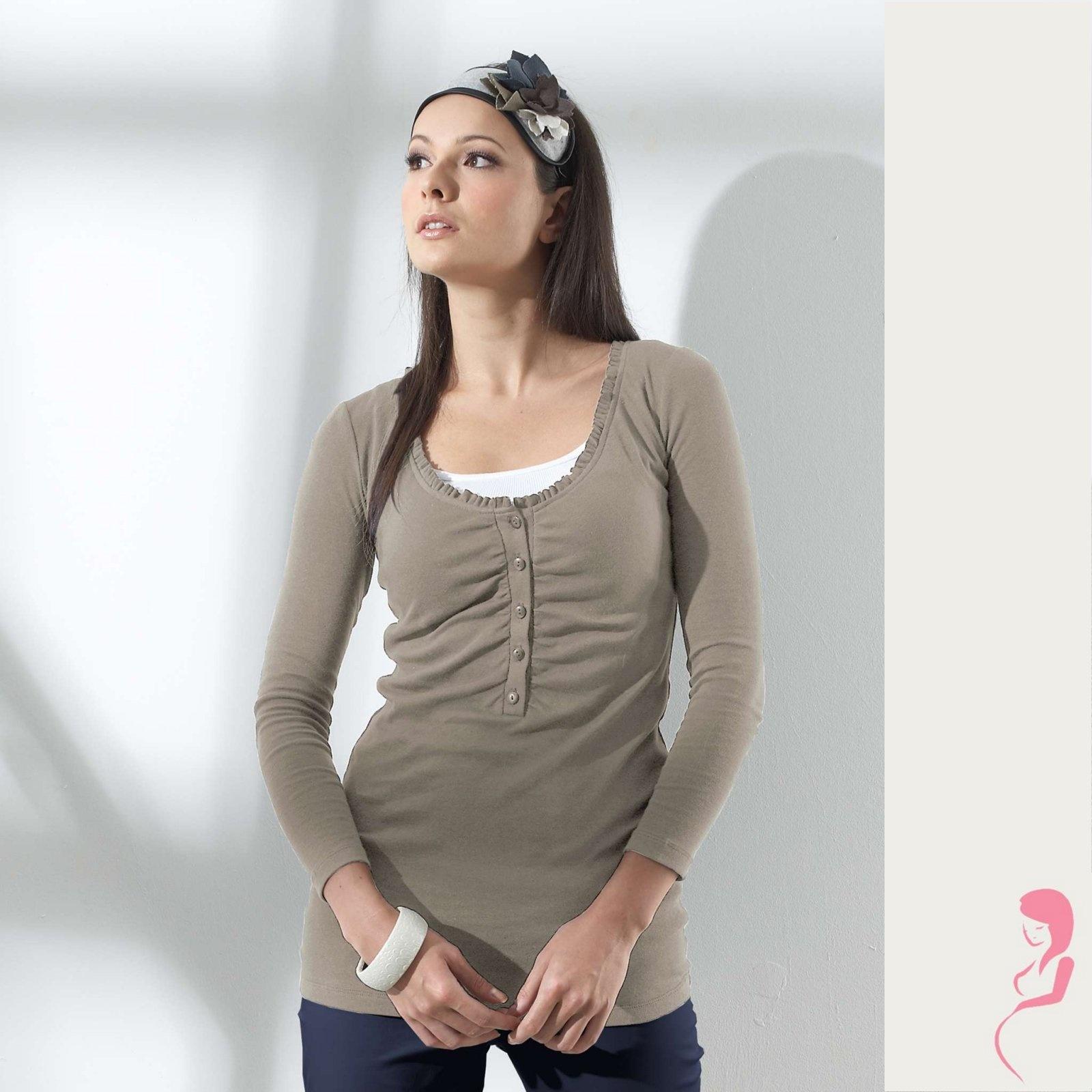 Zwangerschapsshirt Positieshirt Cobblestone