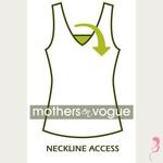 Mothers en Voque Zwangerschapsshirt  Ribed korte mouw