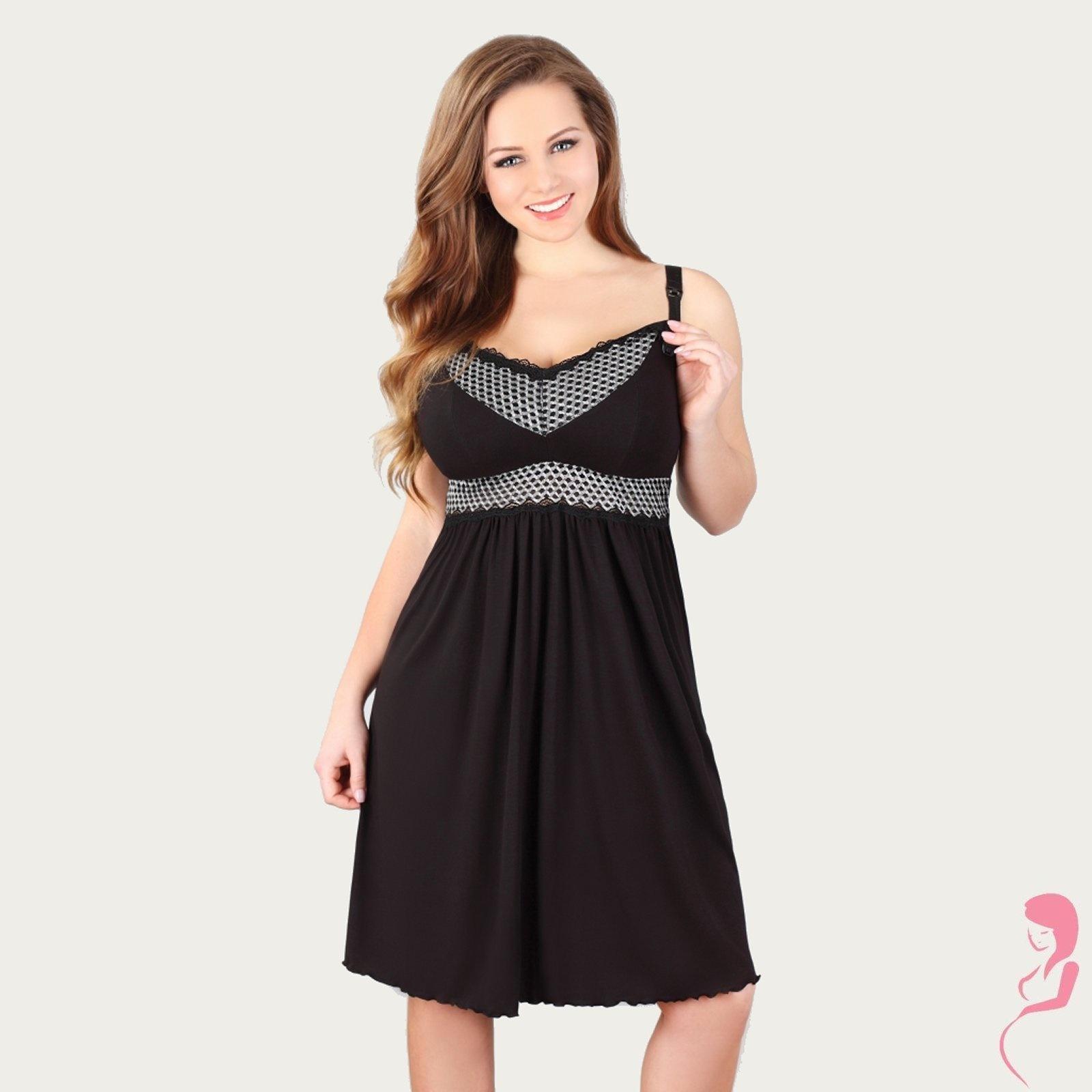 Lupoline Zwangerschapsjurk - Voedingsjurk Beauty Black