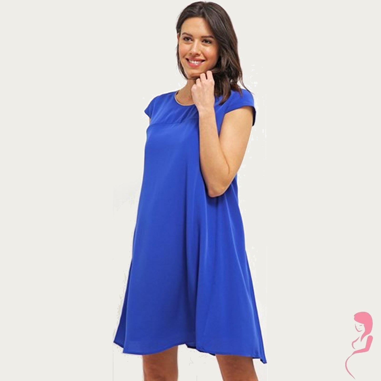 Zwangerschapsjurk Positiejurk Elena blauw