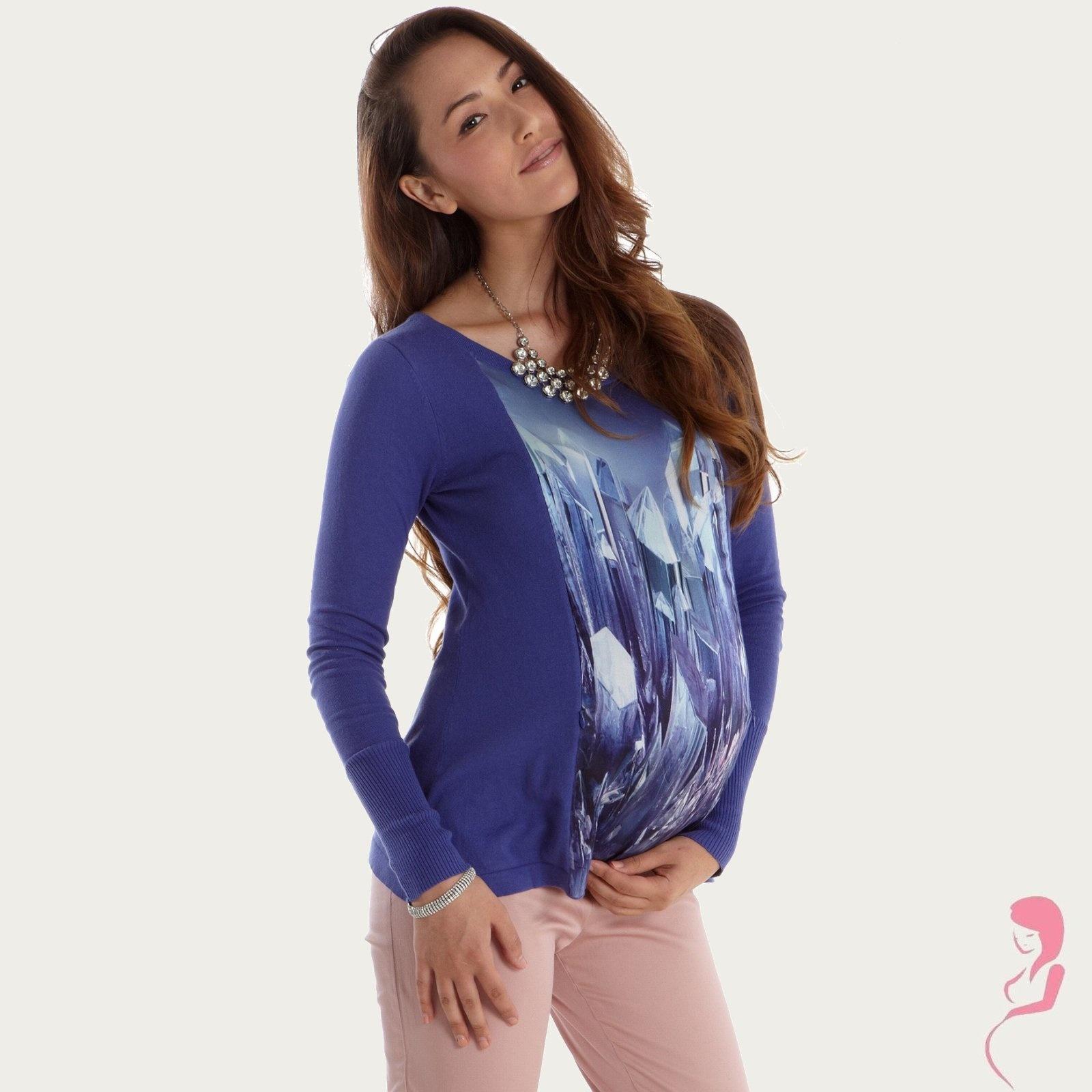 Op en Top Zwanger, Zwangerschapsshirt Positieshirt Silk Panel
