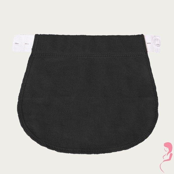 Op en Top Zwanger Broek Verlengstuk / Verlenger Zwarte stof