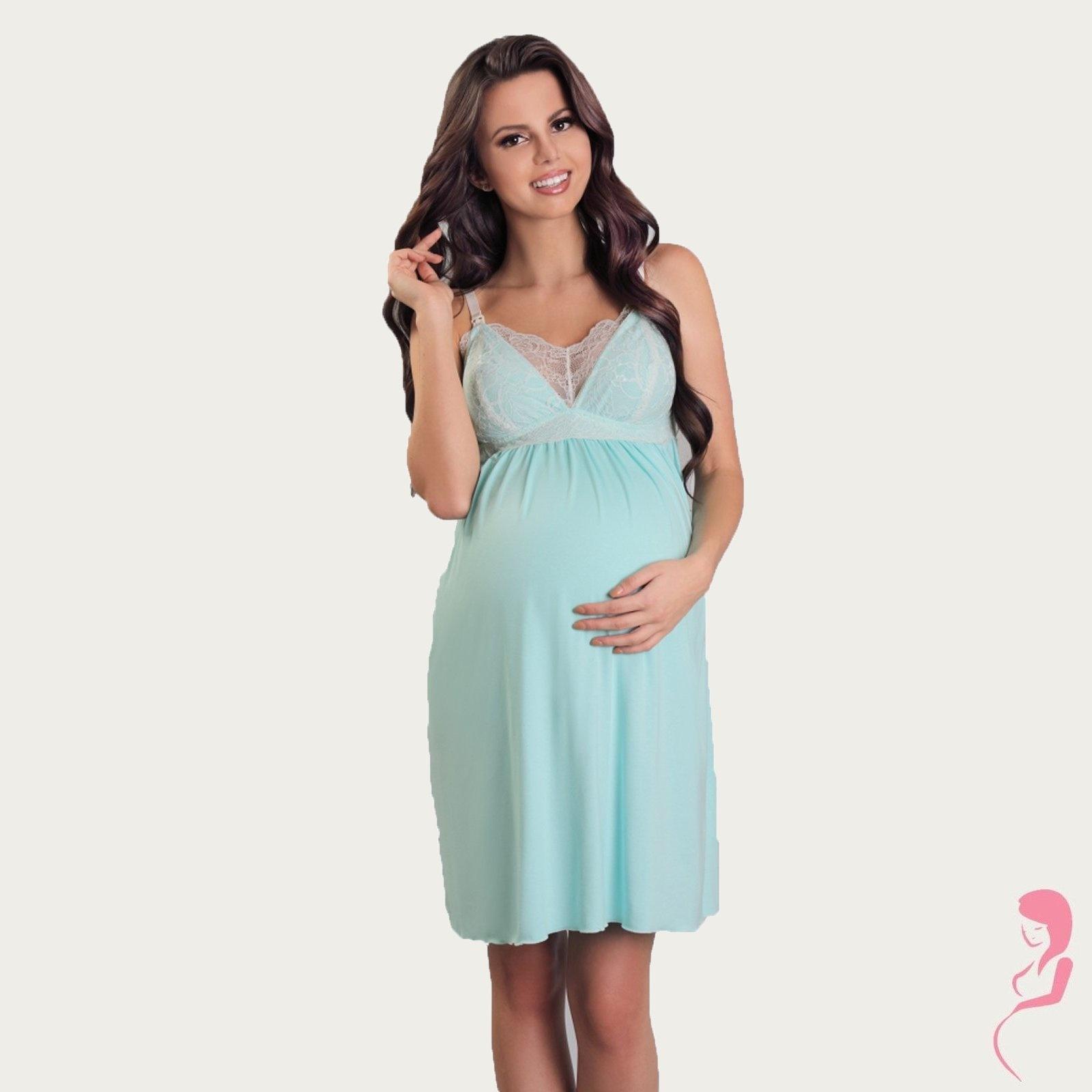 Lupoline Zwangerschapsjurk - Voedingsjurk Ocean Blue