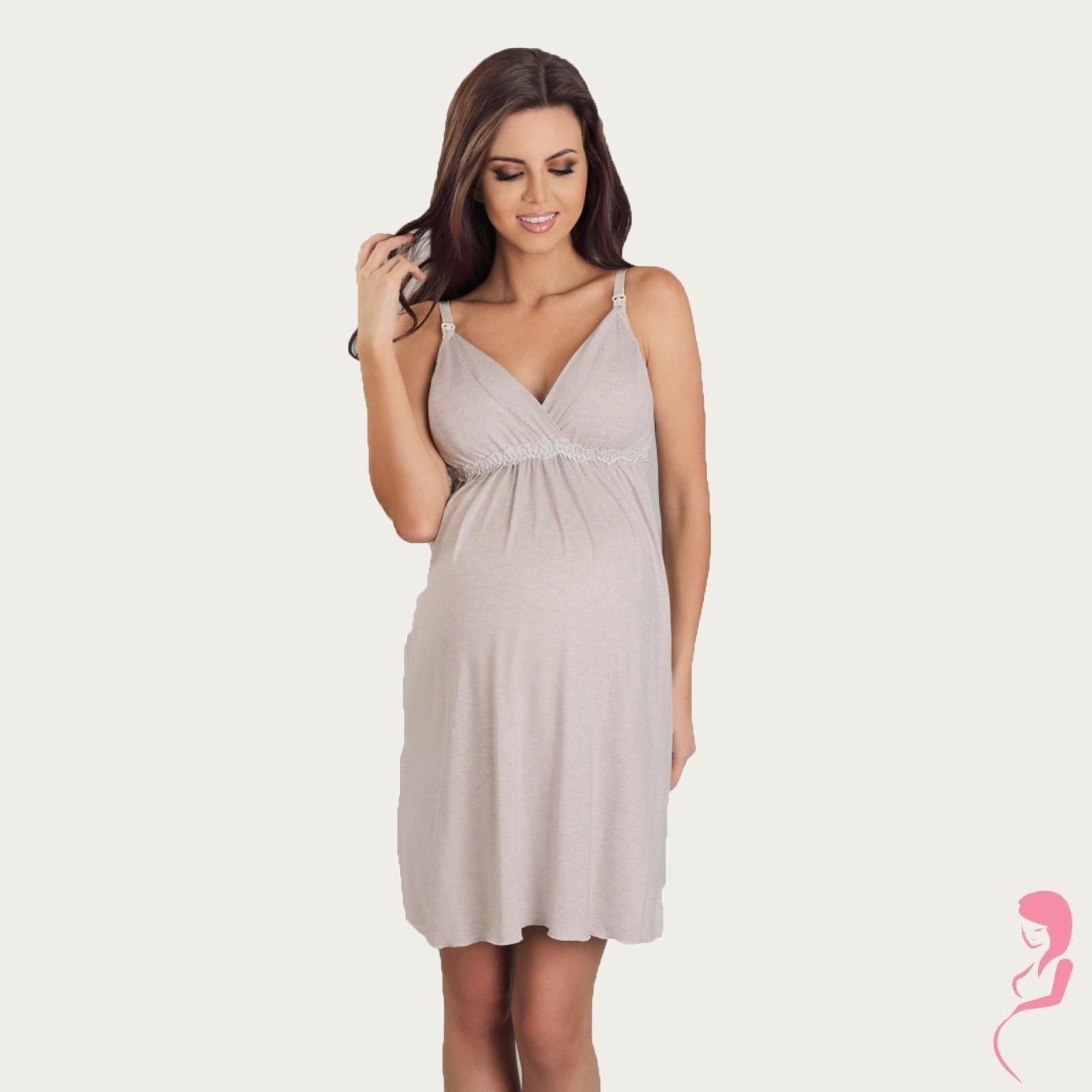 Lupoline Zwangerschapsjurk - Voedingsjurk Latte