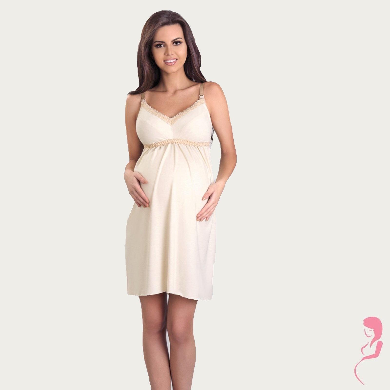 Lupoline Zwangerschapsjurk - Voedingsjurk Creamy