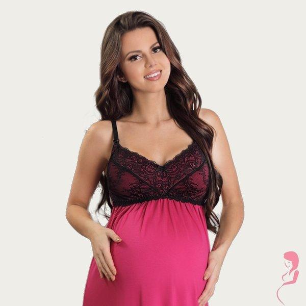 Lupoline Zwangerschapsjurk / Voedingsjurk Sexy Pink