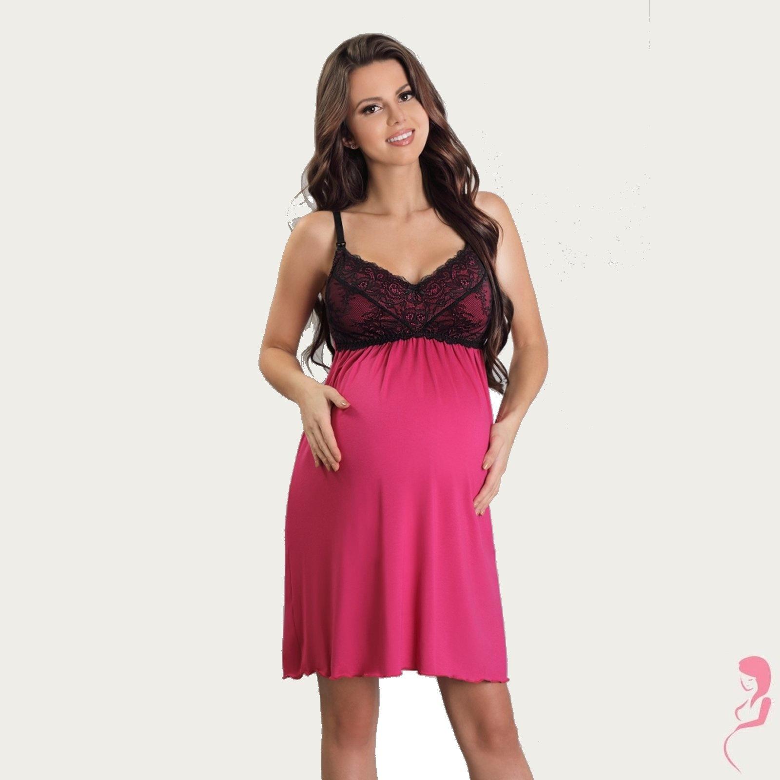 Lupoline Zwangerschapsjurk - Voedingsjurk Sexy Pink