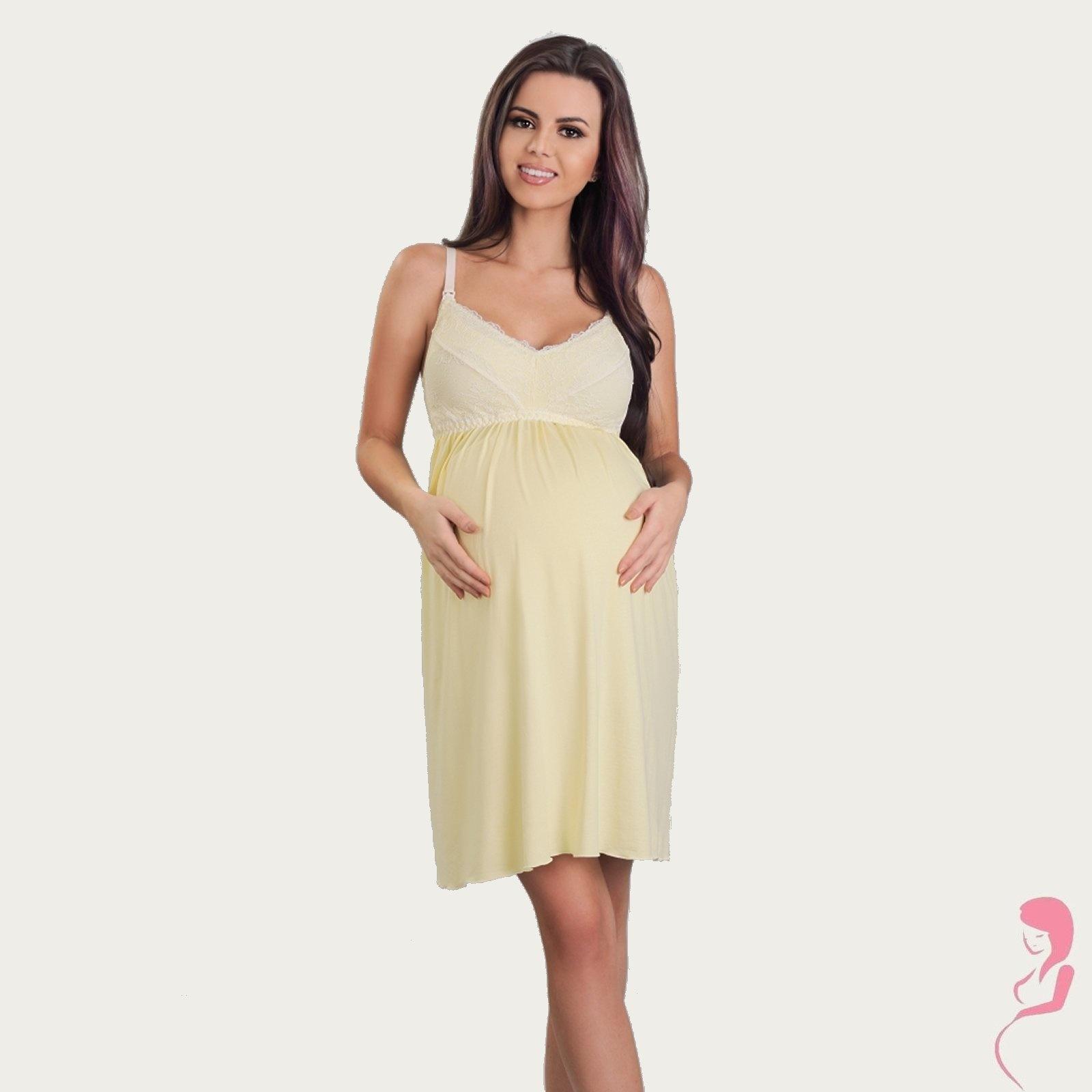 Lupoline Zwangerschapsjurk - Voedingsjurk Mellow Yellow