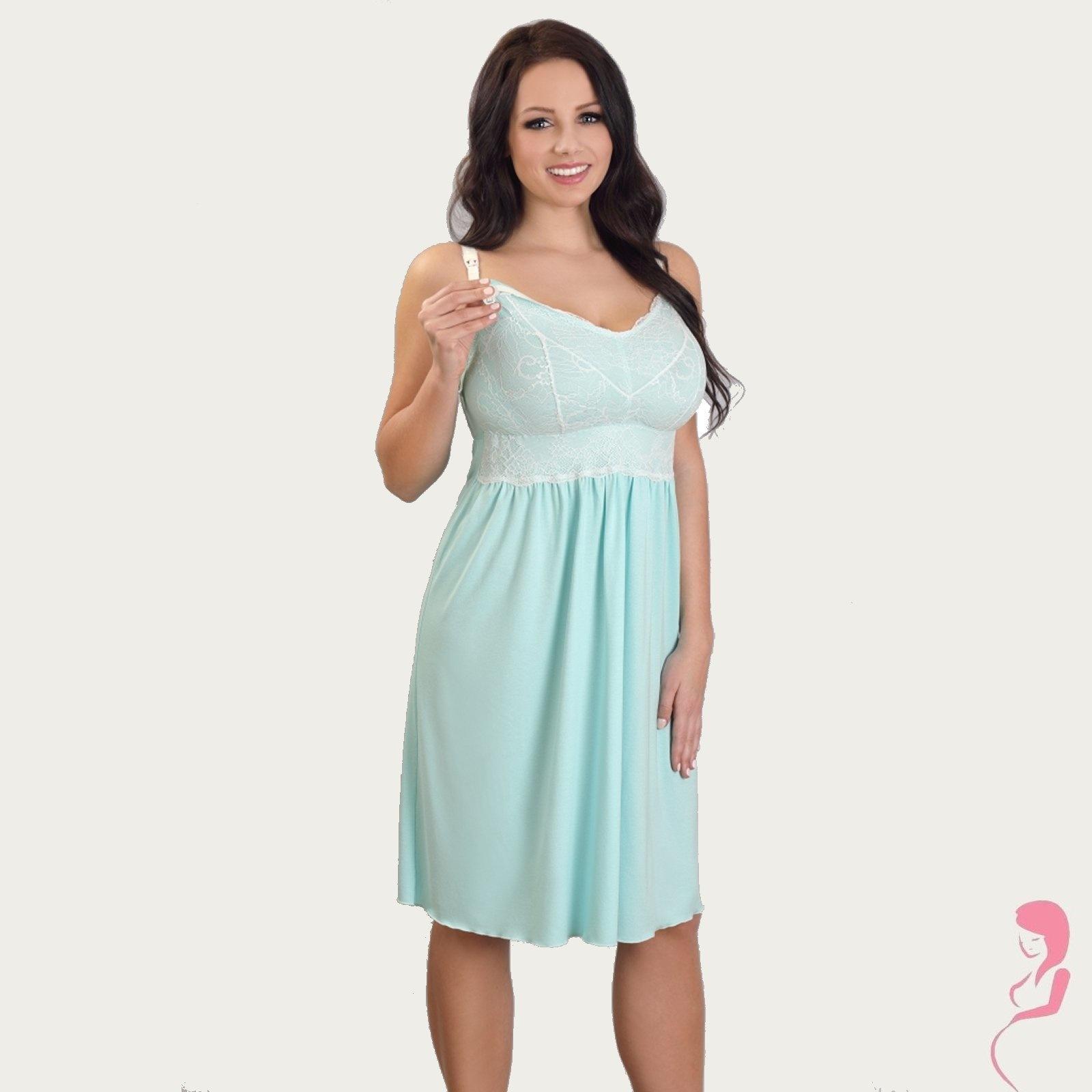 Lupoline Zwangerschapsjurk - Voedingsjurk Pretty Ocean Blue