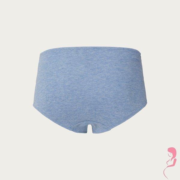 Noppies Zwangerschapsslip/zwangerschapsshort Cotton Blue Melange