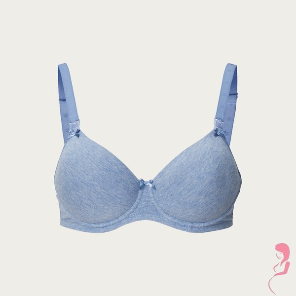 Noppies Zwangerschapsbeha / Voedingsbeha Cotton Comfort Blue Melange
