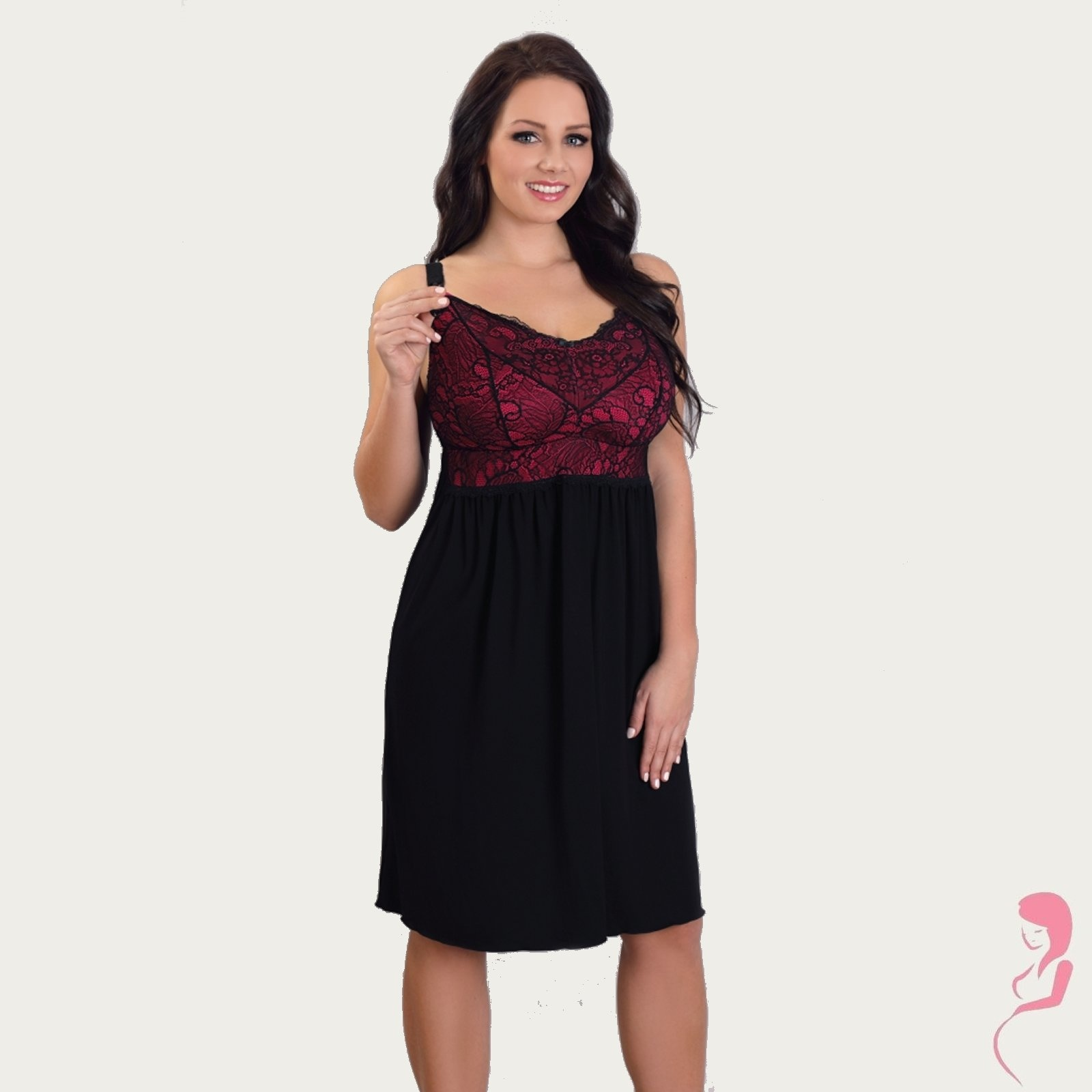 Lupoline Zwangerschapsjurk - Voedingsjurk Sexy Black
