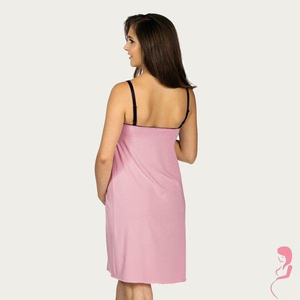 Lupoline Zwangerschapsjurk / Voedingsjurk Black and Pink
