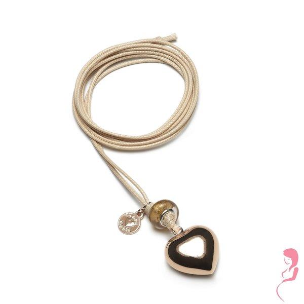Proud MaMa Zwangerschapsketting Babybel Ketting Basic PINK [heart]