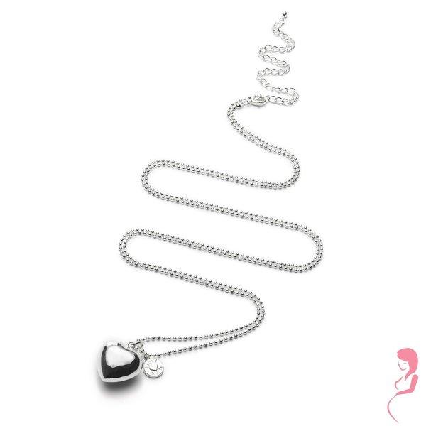 Proud MaMa Zwangerschapsketting Babybel Ketting Zwangerschapsketting silver-plated [heart]