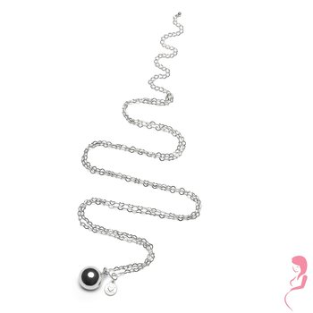 Proud MaMa Ballchain Babybel Ketting Heartchain silver-plated [round]