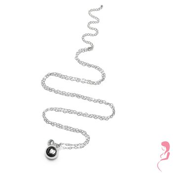 Proud MaMa Ballchain Babybel Ketting Heartchain silver-plated [babyfeet]