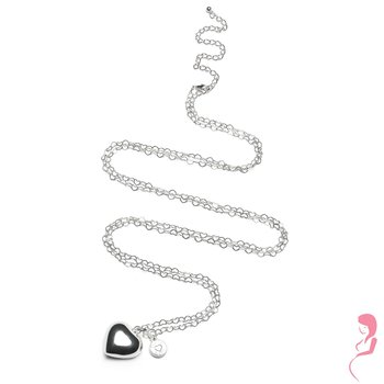 Proud MaMa Ballchain Babybel Ketting Heartchain silver-plated [heart]