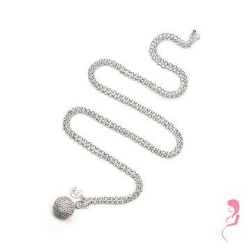 Proud MaMa Ballchain Babybel Ketting Jasseron silver-plated crystal