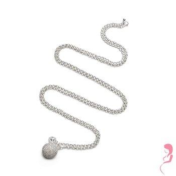 Proud MaMa Ballchain Babybel Ketting Jasseron silver-plated opal