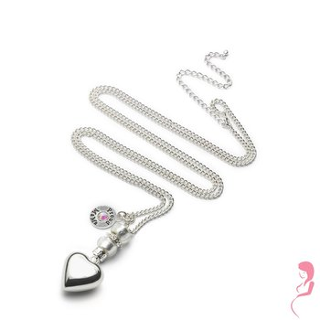 Proud MaMa Ballchain Babybel Ketting Deluxe silver-plated [heart]