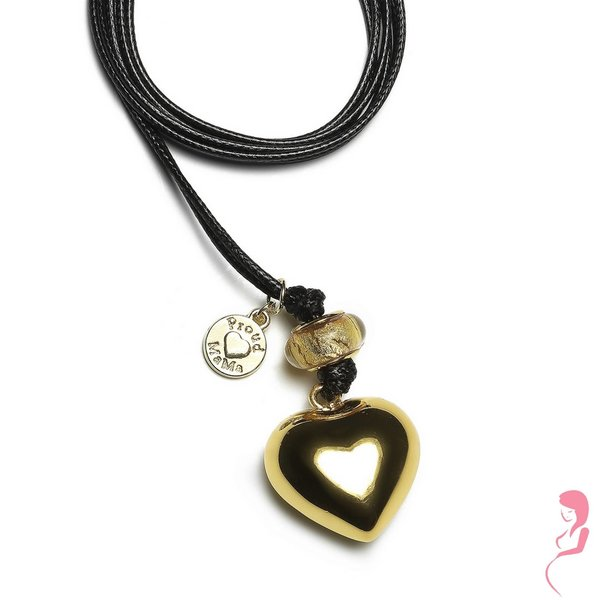 Proud MaMa Zwangerschapsketting Babybel Ketting Basic GOLD [heart]