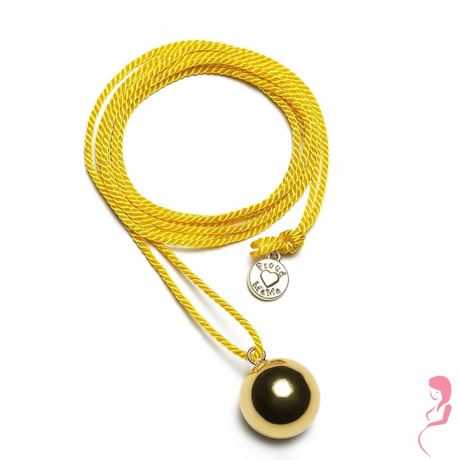Proud MaMa Zwangerschapsketting Babybel Ketting Twist yellow/pink