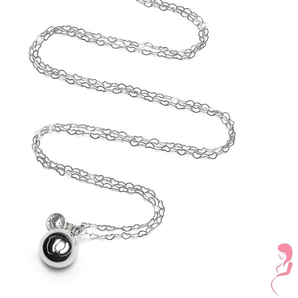 Proud MaMa Zwangerschapsketting Babybel Ketting Heartchain silver-plated [babyfeet]