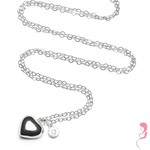 Proud MaMa Zwangerschapsketting Babybel Ketting Heartchain silver-plated [heart]