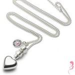 Proud MaMa Zwangerschapsketting Babybel Ketting Deluxe silver-plated [heart]