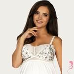 Lupoline Zwangerschapsjurk / Voedingsjurk  Flower White
