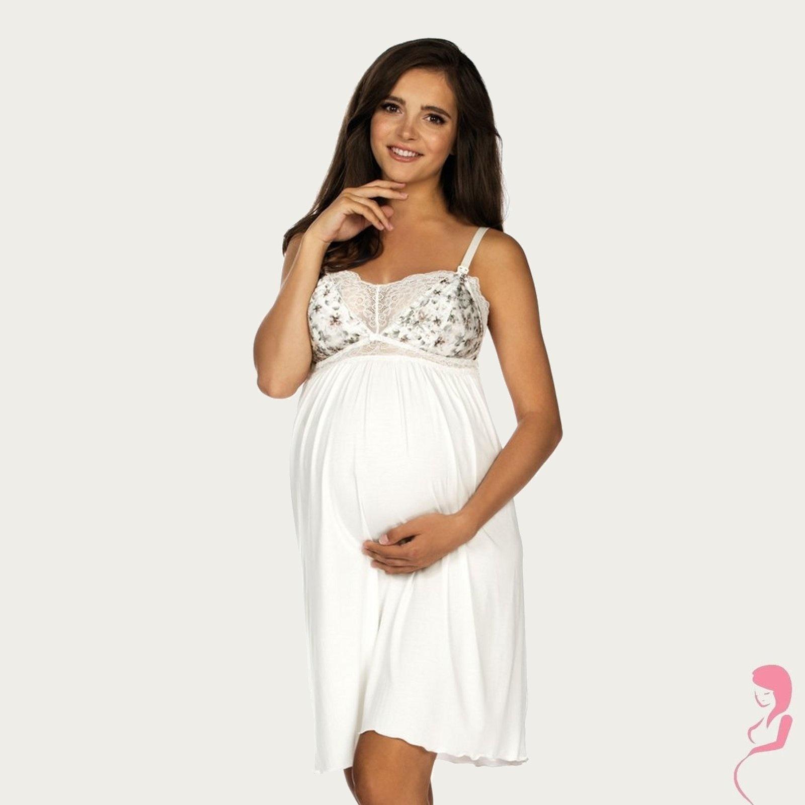 Lupoline Zwangerschapsjurk - Voedingsjurk Flower White