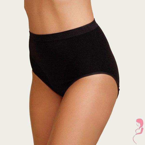 Boob Zwangerschapsslip Positieshort Naadloos Zwart met shapewear effect