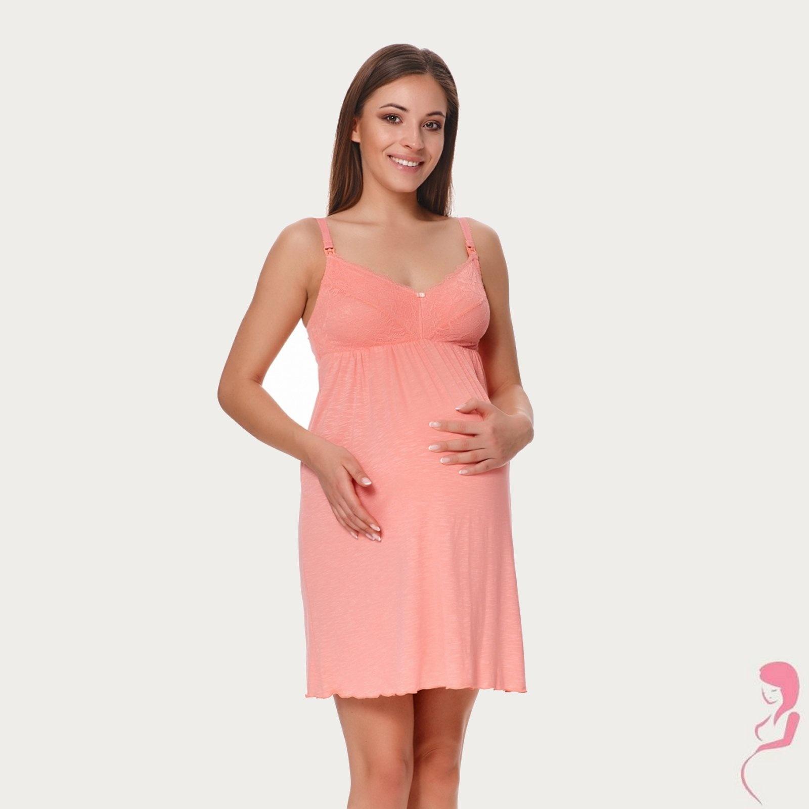 Lupoline Zwangerschapsjurk - Voedingsjurk Peachy