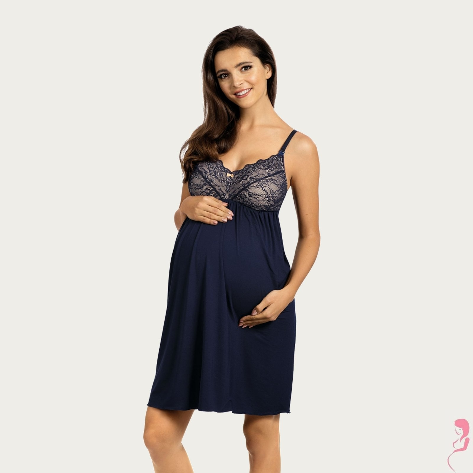 Lupoline Zwangerschapsjurk - Voedingsjurk Blue Nights