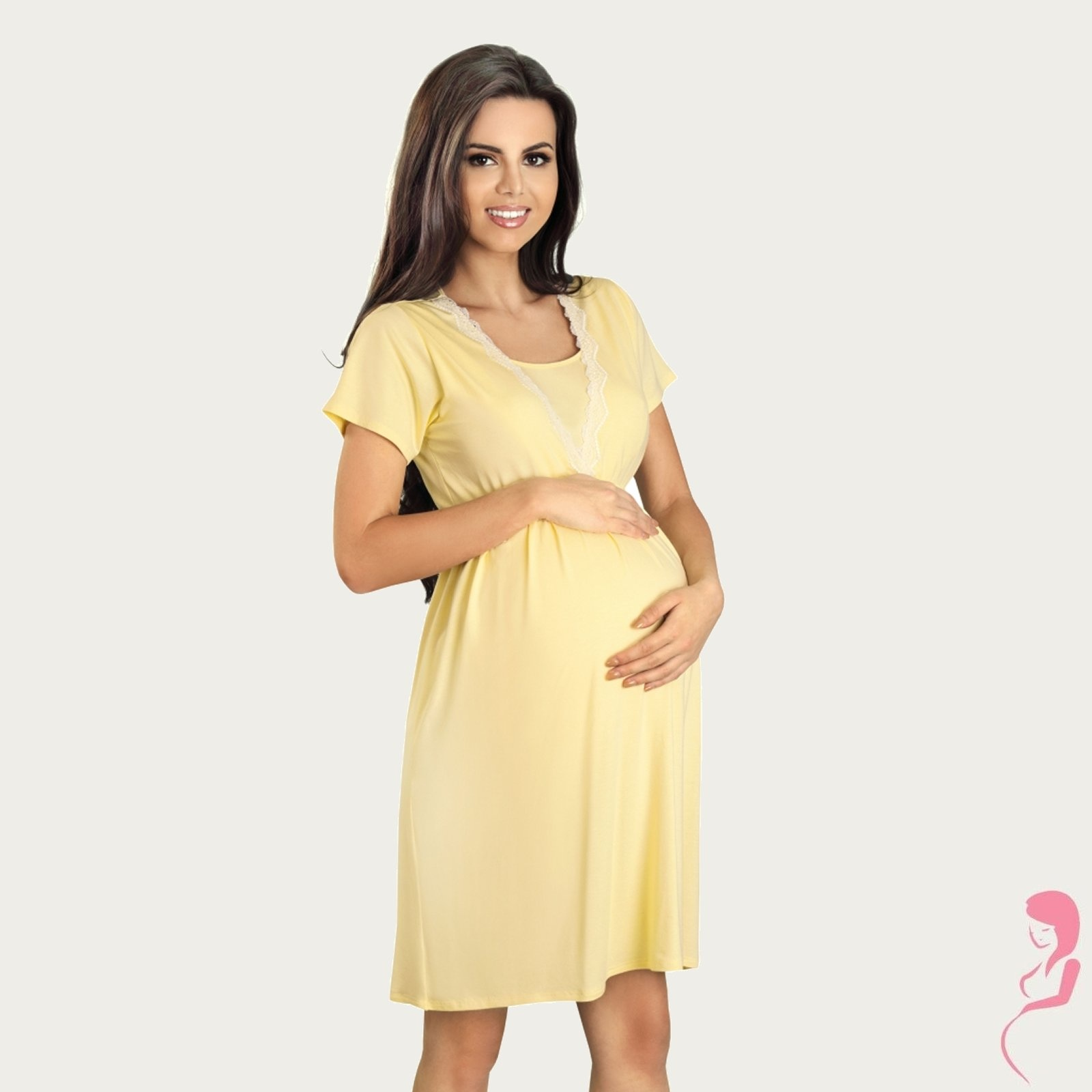 Lupoline Zwangerschapsjurk - Voedingsjurk Vanilla