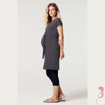 Noppies Zwangerschapslegging 3/4 Capri  Naadloos Blauw