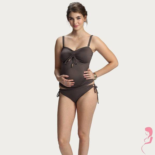 Petit Amour ZwangerschapsTankini / PositieTankini Cameron Solid MaxiCup Plus