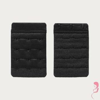Op en Top Zwanger bh Verlengstuk 3 Haaks Zwart (2 Pack)