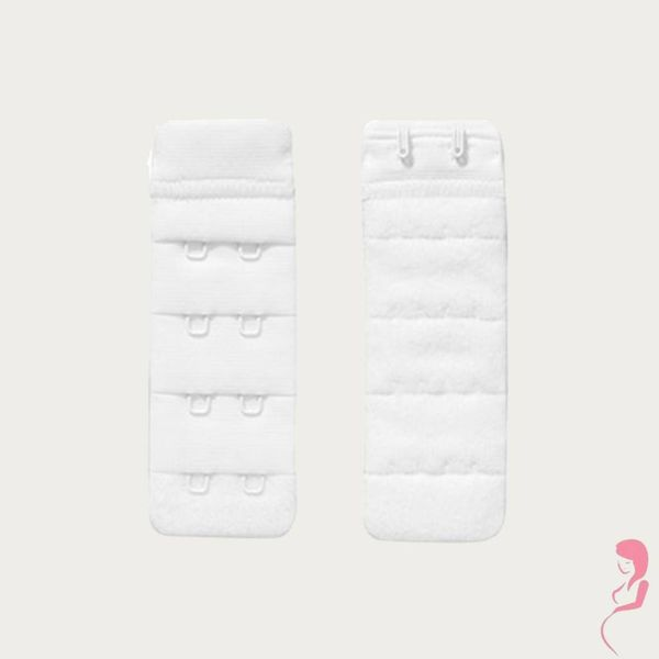 Op en Top Zwanger Beha Verlengstuk / Verlenger 2 Haaks Wit (2 Pack)