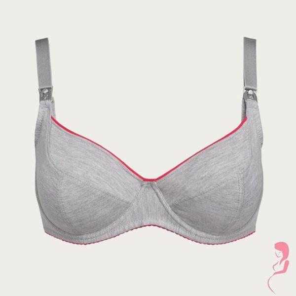 BB (Benefit) Sport Zwangerschapsbeha / Voedingsbeha Mama Active Grijs / Roze