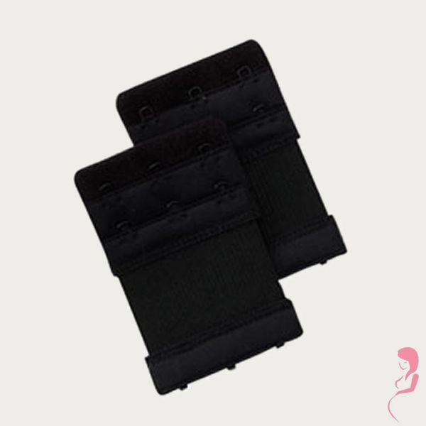 Op en Top Zwanger bh Verlengstuk / Verlenger 3 Haaks met Elastiek Zwart (per stuk)