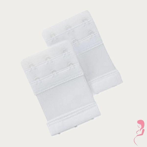 Op en Top Zwanger Beha Verlengstuk / Verlenger 3 Haaks met Elastiek Wit (per stuk)