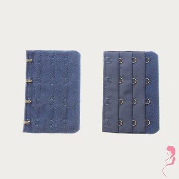 Op en Top Zwanger bh Verlengstuk 4 Haaks Donker Blauw (per stuk)