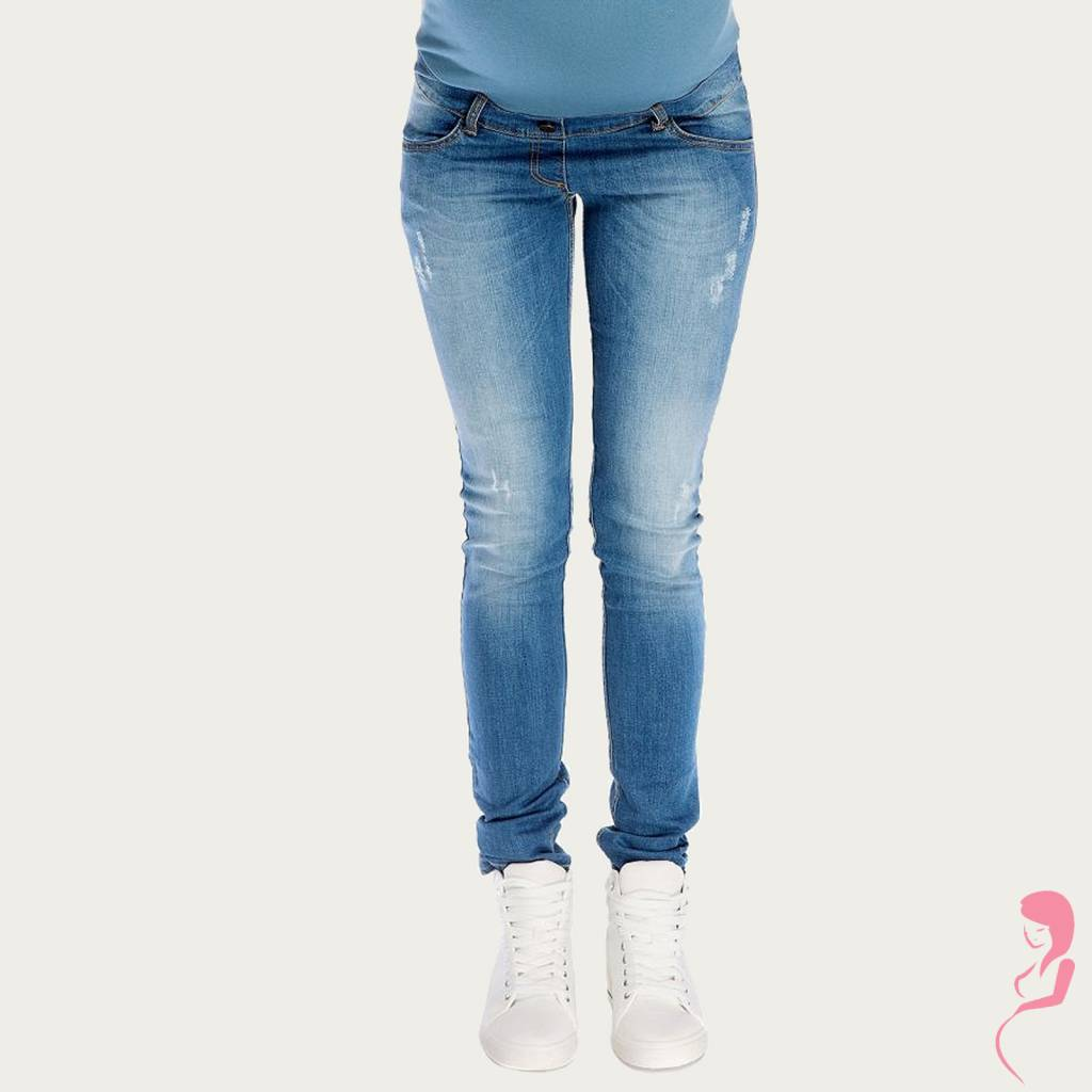 My Tummy ZwangerschapsJeans PositieJeans Broek Demi Blauw