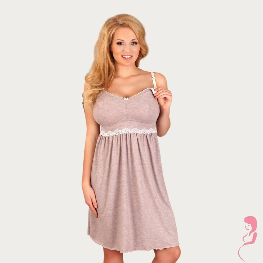 Lupoline Zwangerschapsjurk - Voedingsjurk Grey Style Large