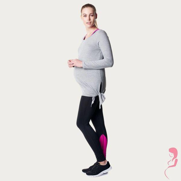 Noppies Zwangerschapstop Positietop Sport Heather Lange mouw Grijs