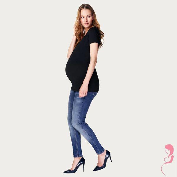 Noppies Zwangerschapsshirt V Hals Amsterdam Korte Mouw Zwart